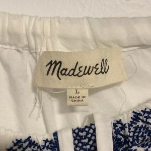 Madewell Tops - Madewell - Cotton Embroidered Blouse